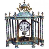 Vintage cloissone enamel mantel clock