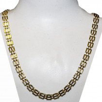 Estate 14k gold link chain necklace