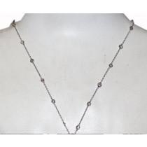 Estate 14k gold diamond by the yard necklace