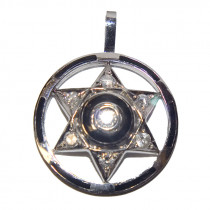 14k gold diamond star of david pendant