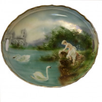 Antique germany hand-painted porcelain plate