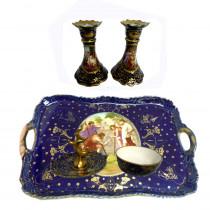 Vintage royal vienna dresser set with candlesticks