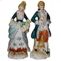 Set of 2 antique porcelain figurines
