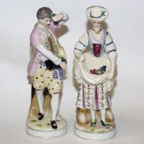 Pair of antique porcelain figurines