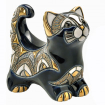 Blue cat figurine