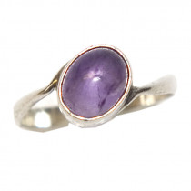 Estate 925 silver amethyst ring