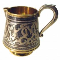 Vintage russian silver niello pitcher