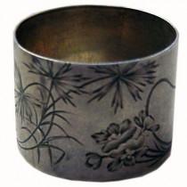 Antique russian 84 silver napkin ring