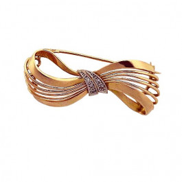 Vintage Gold Bow Pin