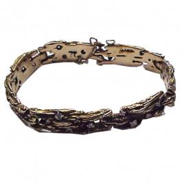 Estate Diamond 14K Gold Bracelet