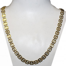 14k Gold Link Chain Estate Necklace