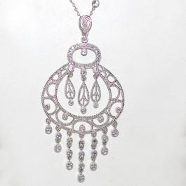 Dream Catcher Diamond 14k Gold Necklace