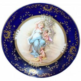 Antique Royal Vienna Porcelain Cabinet Plate