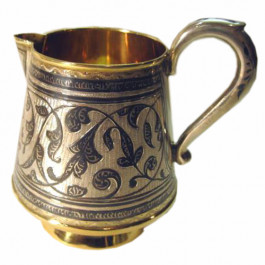 Vintage Russian Silver Niello Pitcher
