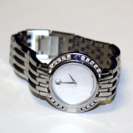 Movado Esperanza Diamond & Stainless Steel Estate Women's Wristwatch