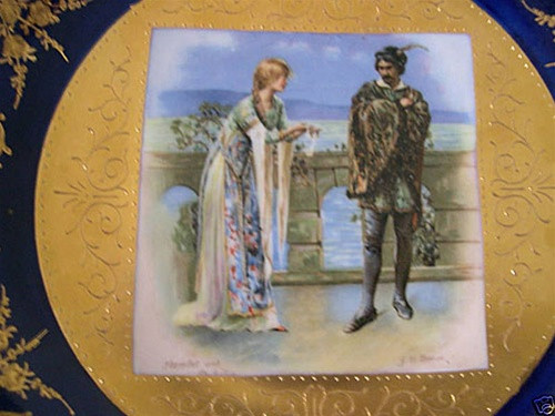 Beautiful Royal Vienna Hamlet And Ophelia Plate Antique