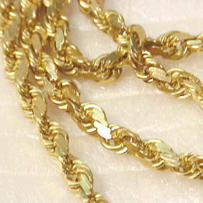 K Diamond Cut Gold Chain