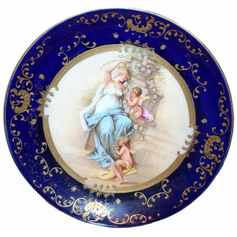 antique royal vienna porcelain plates