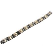 Estate Titanium & 14k Gold Men's Bracelet