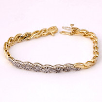 Estate Swirl Design Diamond Bracelet