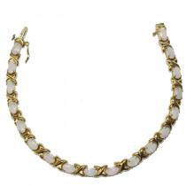 Estate 14k Gold Opal Bracelet