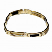 New Onyx 14k Gold Bracelet