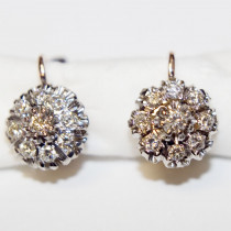 Estate Diamond 14k Gold  Earrings