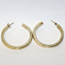 Estate 925 Silver Hoop Earrings