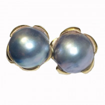 Estate 14k Gold Mother-of-pearl Earrings