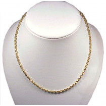 Solid 14k Gold Diamond Cut Rope Chain