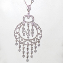 Dream Catcher Diamond 14k Gold Necklace