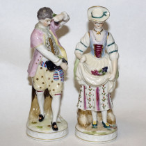 Pair of Antique Porcelain Figurines