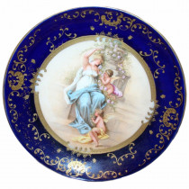 Antique Royal Vienna Porcelain Cabinet Plate