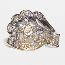 Vintage Eastern Star Diamond Ring