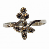 Estate 925 Silver Marcasite Ring - 4