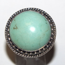 Estate Turquoise 925 Silver Ring