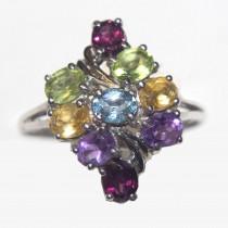 925 Silver Multystones Ring