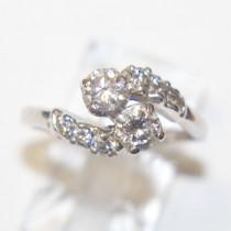 Bypass Design 14k Gold Diamond Ring