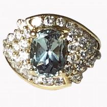 Russian Alexandrite Diamond Engagement Ring